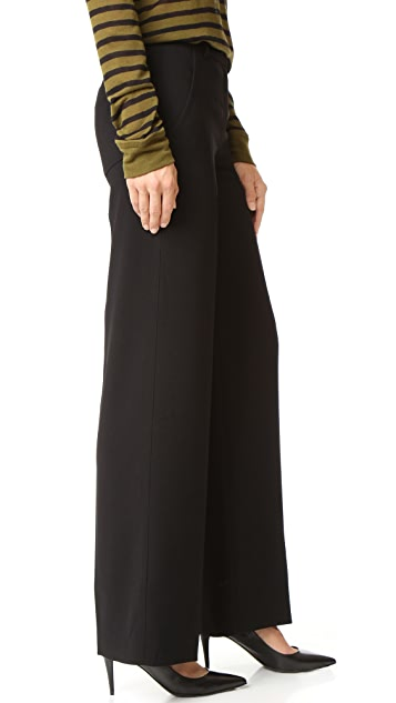 T by Alexander Wang Crepe Wide Leg Trousers