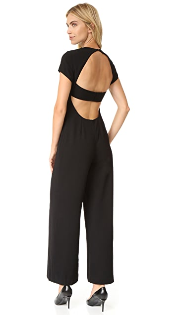 T by Alexander Wang Crepe Open Back Jumpsuit