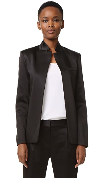 T by Alexander Wang Satin Open Blazer