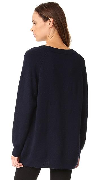T by Alexander Wang Cashwool Deep V Sweater