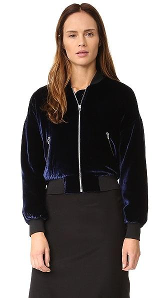 T by Alexander Wang Velvet Bomber Jacket