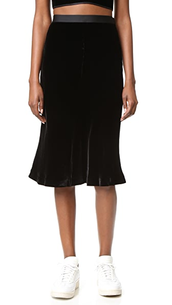 T by Alexander Wang Velvet A Line Skirt | SHOPBOP