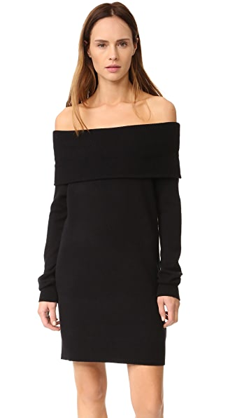 T by Alexander Wang Cashwool Off Shoulder Dress