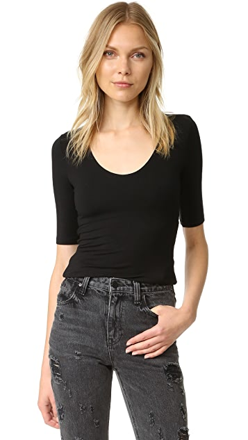 T by Alexander Wang Short Sleeve Back Slit Tee