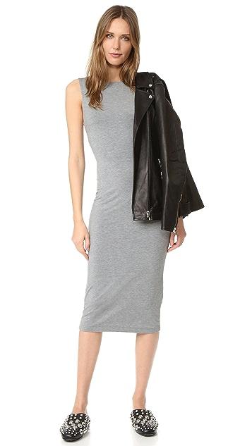 T by Alexander Wang Back Slits Sleeveless Dress