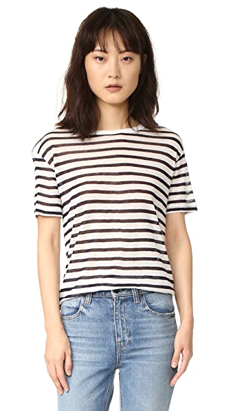 T by Alexander Wang Stripe Tee - Ink And Ivory
