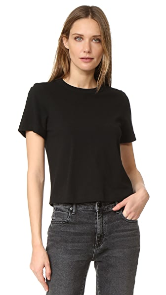 T by Alexander Wang High Twist Cotton Jersey Boy Tee - Black
