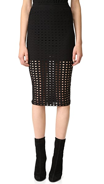 T by Alexander Wang Jacquard Skirt