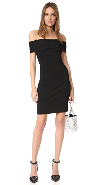 T by Alexander Wang Rib Knit Off Shoulder Dress