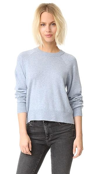 T by Alexander Wang Birdseye Crew Crop Sweater