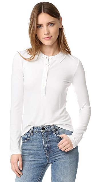 T by Alexander Wang Long Sleeve Polo Tee