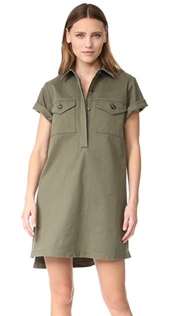 T by Alexander Wang Short Sleeve Collared Dress