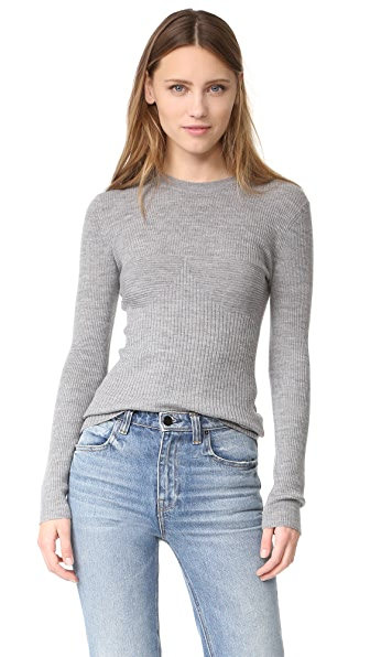 T by Alexander Wang Rib Knit Long Sleeve Top
