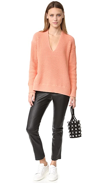 T by Alexander Wang Leather Trousers