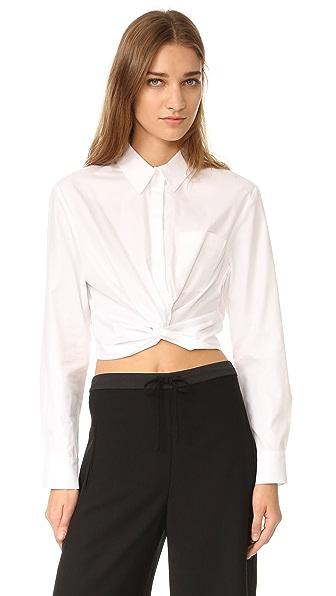 T by Alexander Wang Long Sleeve Shirt - White