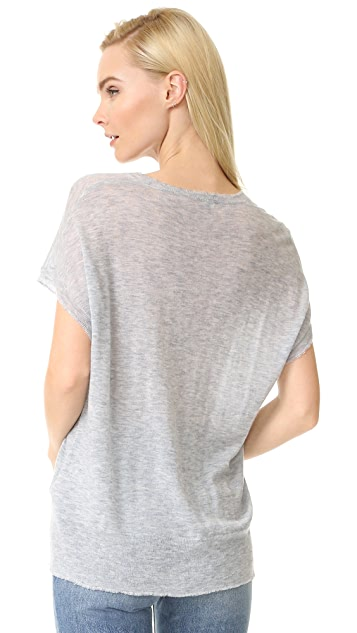 T by Alexander Wang V Neck Muscle Pullover