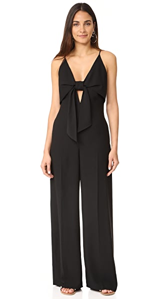 T by Alexander Wang Sleeveless Tie Front Jumpsuit at Shopbop