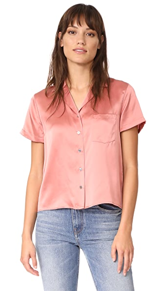T by Alexander Wang Button Thru Collared Shirt