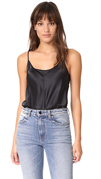 T by Alexander Wang Cami Bodysuit In Black