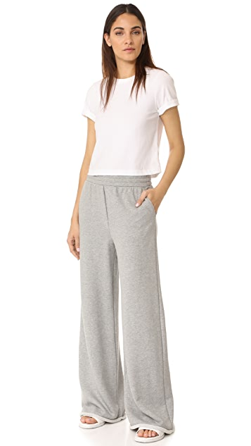T by Alexander Wang Pull On Wide Leg Pants