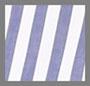 White with Blue Stripe