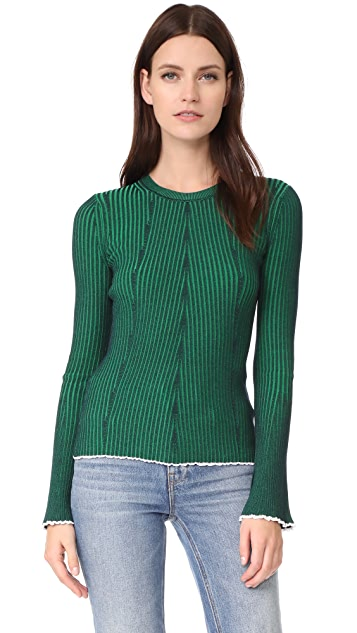T by Alexander Wang Flared Sleeve Sweater