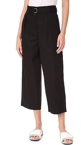 T by Alexander Wang Paper Bag Waist Pants with Belt