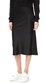 alexanderwang.t Heavy Draped Satin Skirt