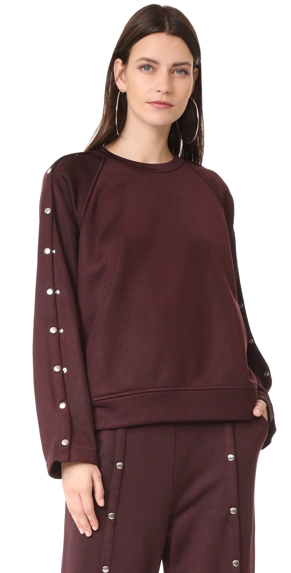 Sweatshirt with Snaps T by Alexander Wang