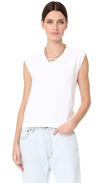 T by Alexander Wang High Twist Muscle Tee - White
