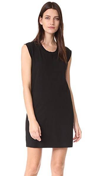 T by Alexander Wang High Twist Jersey Tee Dress - Black