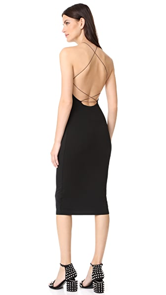 T by Alexander Wang Stretch Jersey Razor Front Dress - Black