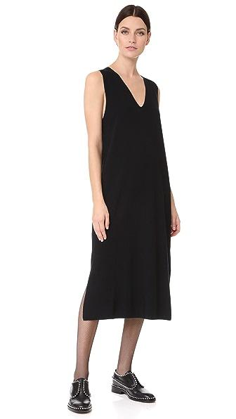 T by Alexander Wang Milano Knit Sleeveless V Neck Dress