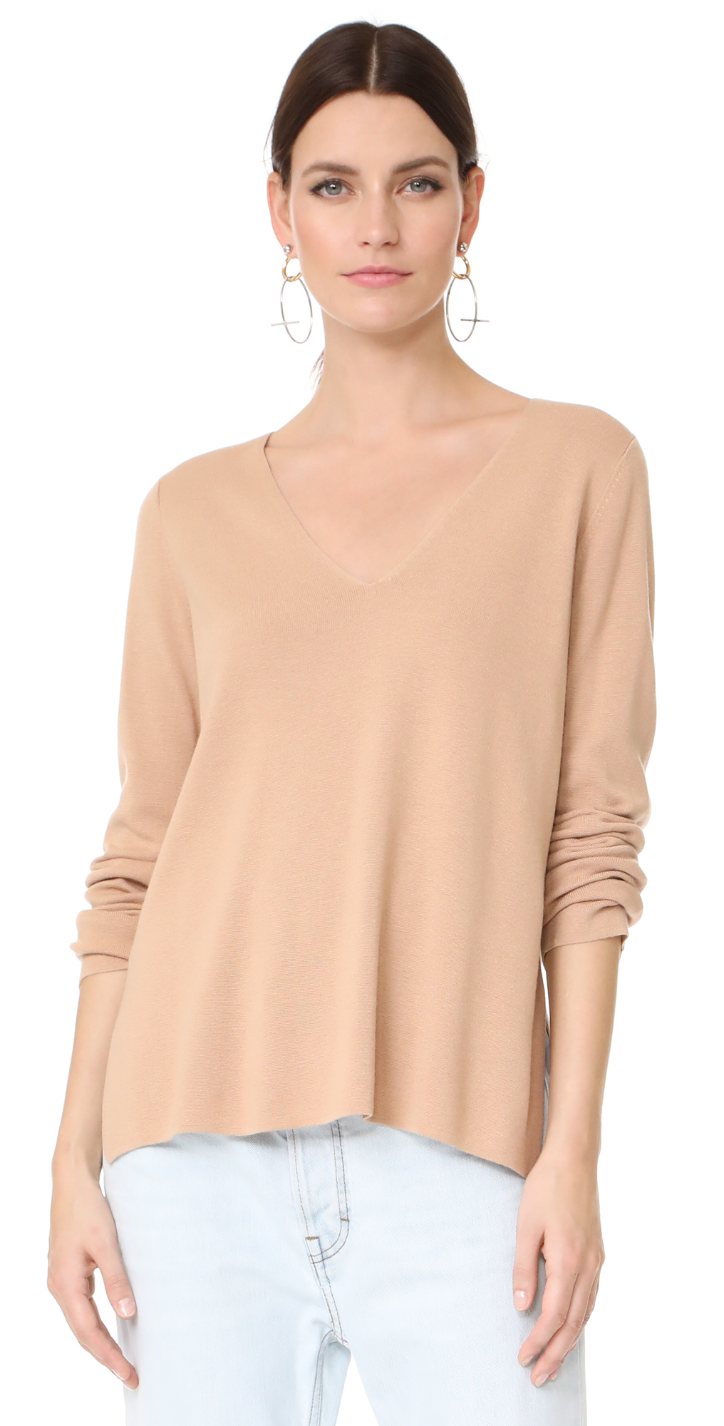Milano Knit V Neck Sweater T by Alexander Wang