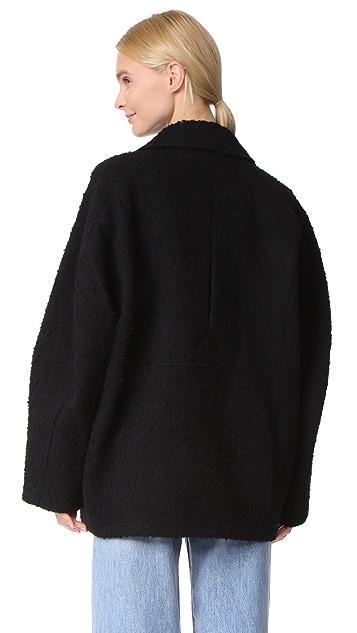 T by Alexander Wang Asymmetrical Notch Collar Coat