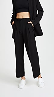 alexanderwang.t Soft Suiting Cropped Wide Leg Pants
