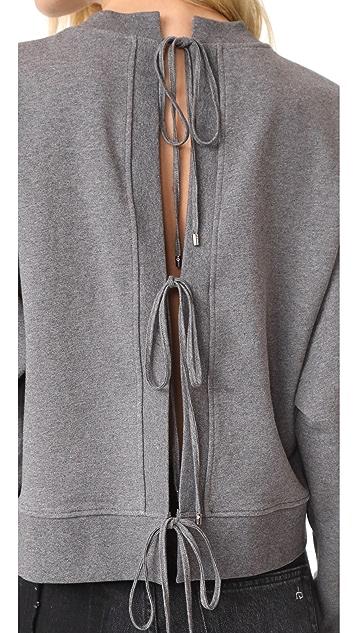 T by Alexander Wang Tie Back Sweatshirt