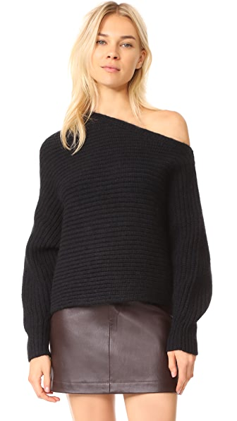 T by Alexander Wang Chunky Asymmetrical Sweater