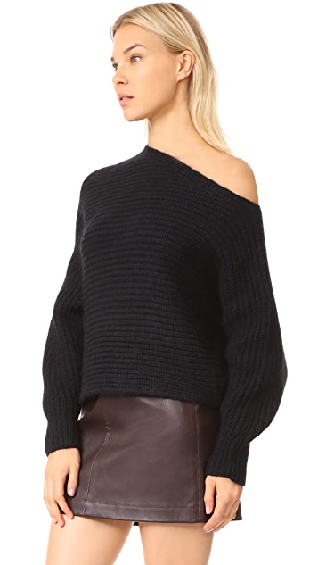T by Alexander Wang Chunky Asymmetrical Sweater