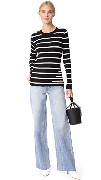 T by Alexander Wang Ribbed Intarsia Sweater