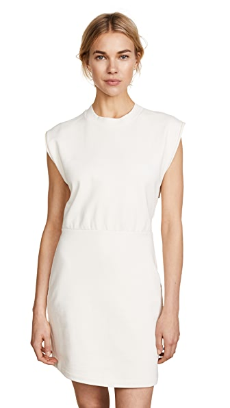T by Alexander Wang Cinch Waist Dress In Ivory