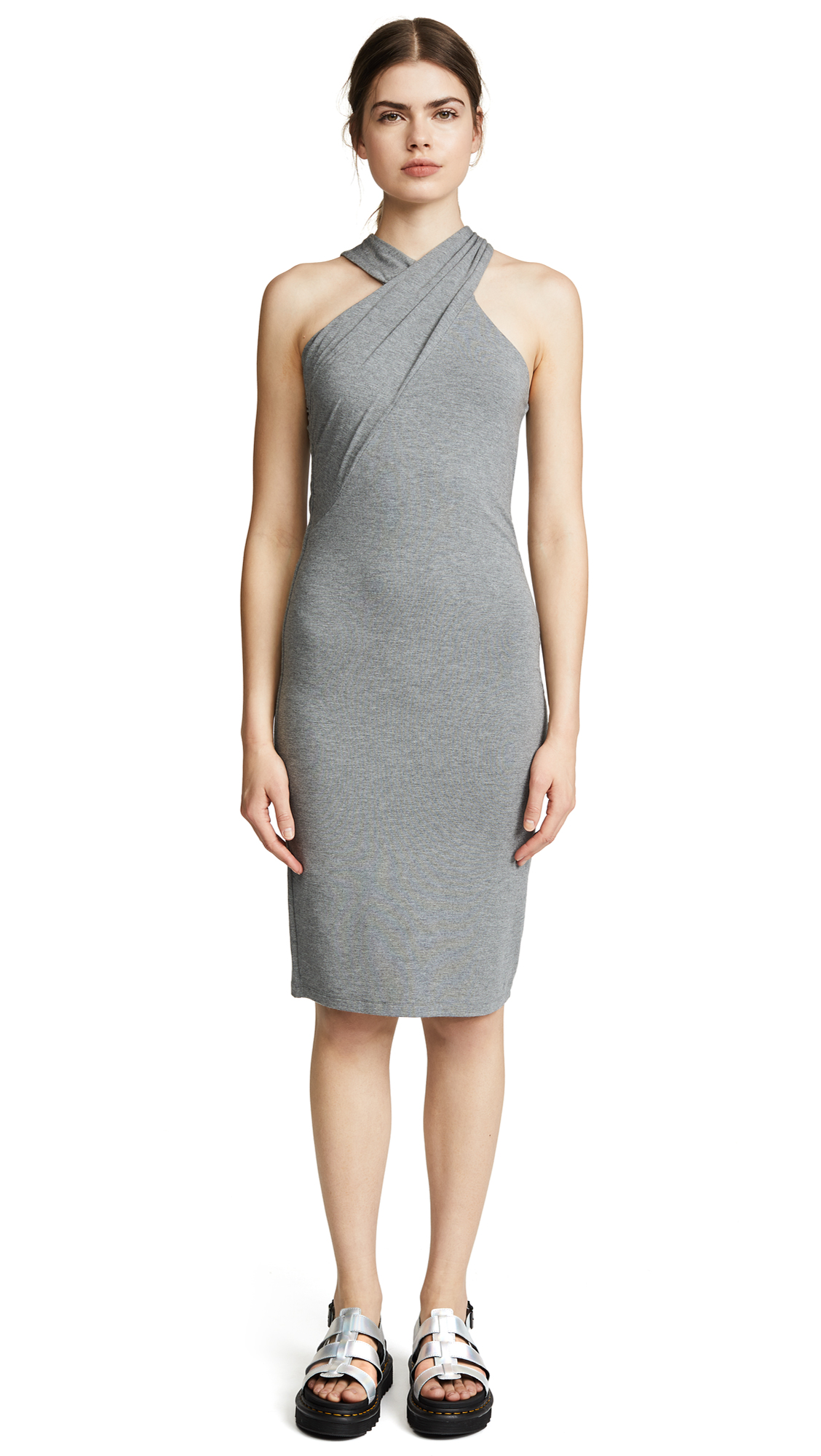 T by Alexander Wang Stretch Jersey Crisscross Dress