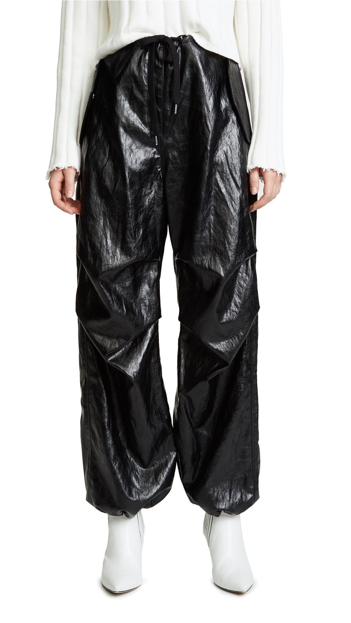 T by Alexander Wang Papery Faux Leather Pants
