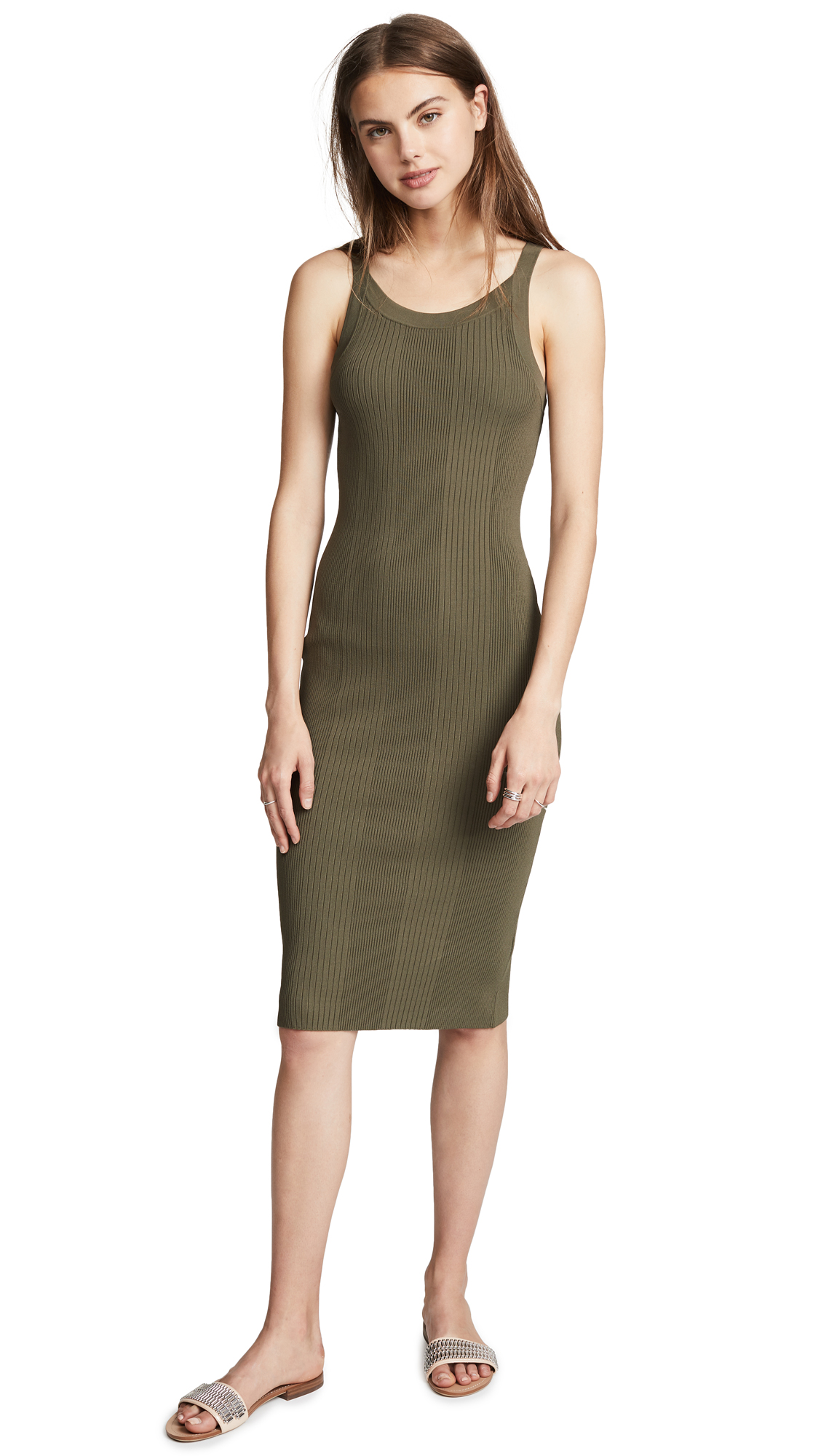 T by Alexander Wang Visible Straps Dress
