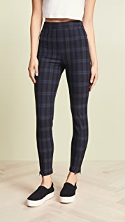 alexanderwang.t Stretch Plaid Fitted Leggings