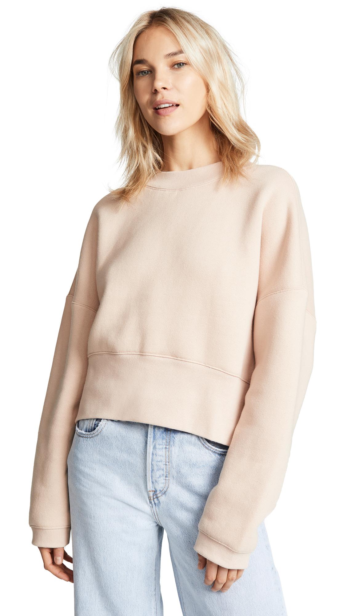 T by Alexander Wang Wide Neck Sweatshirt In Apricot