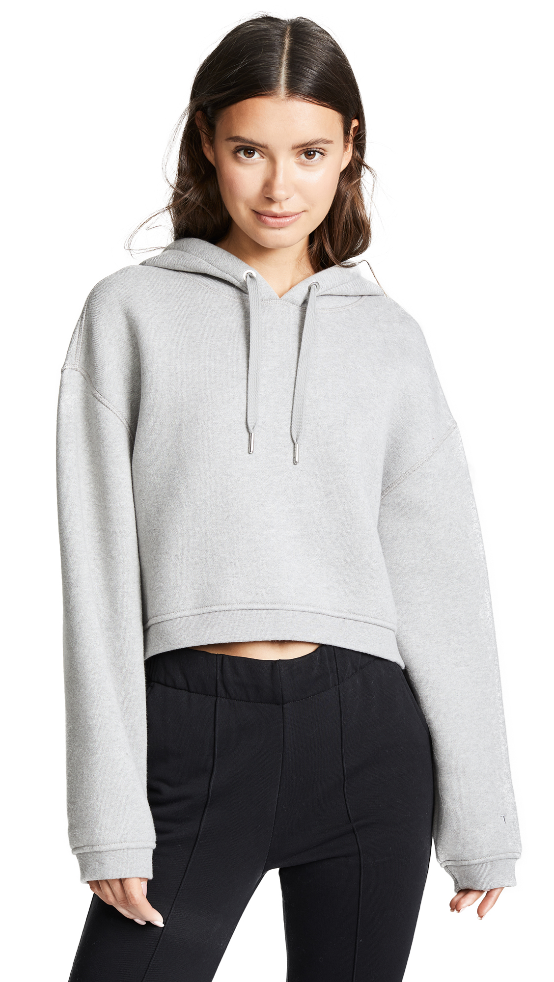 alexanderwang.t Fleece Hoodie - Heather Grey