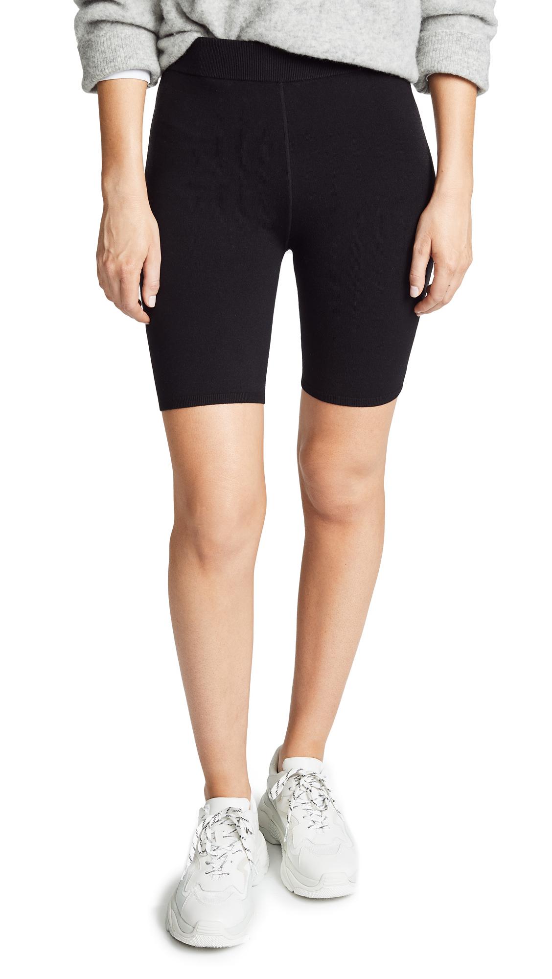 alexanderwang.t Bodycon Basic Biker Shorts - Black