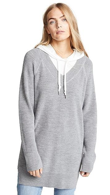 alexanderwang.t Sweater Tunic with Inner Hoodie