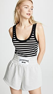 alexanderwang.t Striped Slubbed Jersey Tank Top